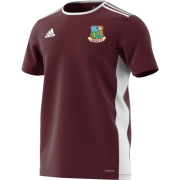 Hessle CC Adidas Maroon Junior Training Jersey