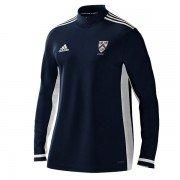 Grimsby Town CC Adidas Navy Zip Training Top