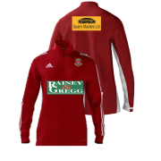 Ballymena CC Adidas Red Zip Training Top