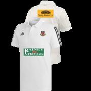 Ballymena CC Adidas White Polo