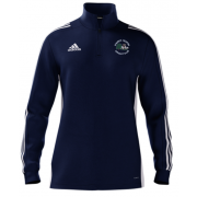 Church Fenton CC Adidas Navy Zip Training Top