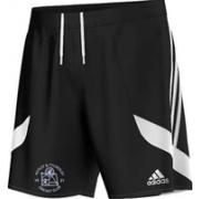 Astley and Tyldesley CC Adidas Black Training Shorts