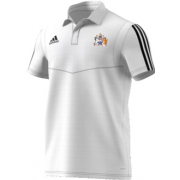 Aston University CC Adidas White Polo