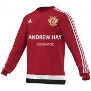Osbaldwick FC Adidas Red Sweat Top