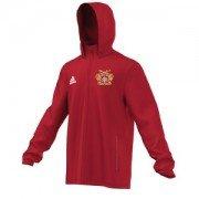 Osbaldwick FC Adidas Red Rain Jacket