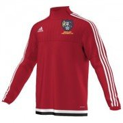 Bentley Colliery CC Adidas Red Junior Training Top