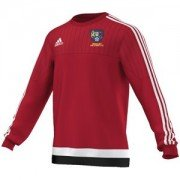 Bentley Colliery CC Adidas Red Sweat Top