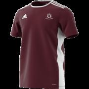 Ellesmere CC Adidas Maroon Junior Training Jersey