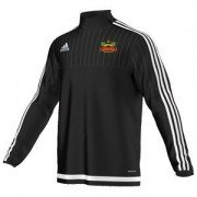 Duffield CC Adidas Black Junior Training Top