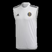 Harrow Town CC Adidas White Training Vest