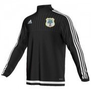 Fulwood & Broughton CC Adidas Black Training Top