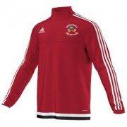 Darley Dale CC Adidas Red Junior Training Top