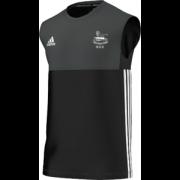 Glossop CC Adidas Black Training Vest