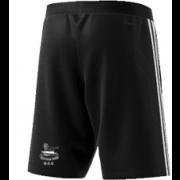 Glossop CC Adidas Black Training Shorts