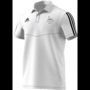 Glossop CC Adidas White Polo