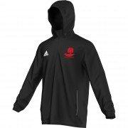 Crawley Down CC Adidas Black Rain Jacket