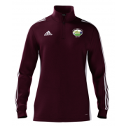 Hirst Courtney CC Adidas Maroon Zip Training Top