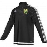 Marston Green CC Adidas Black Junior Training Top