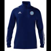 Fulham CC Adidas Blue Zip Junior Training Top
