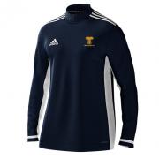 Braunton CC Adidas Navy Zip Training Top