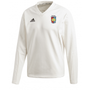 Devizes CC Adidas Elite Long Sleeve Sweater