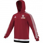 Luton Town & Indians CC Adidas Red Hoody