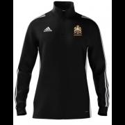East Horsley CC Adidas Black Zip Training Top