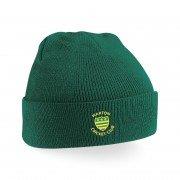 Warton CC Green Beanie
