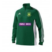 Warton CC Adidas Green Junior Training Top