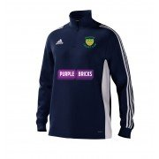 Warton CC Adidas Navy Junior Training Top