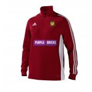 Warton CC Adidas Red Junior Training Top
