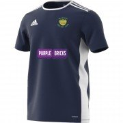 Warton CC Adidas Navy Junior Training Jersey