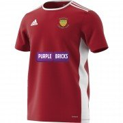 Warton CC Adidas Red Junior Training Jersey