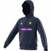 Warton CC Adidas Navy Junior Fleece Hoody
