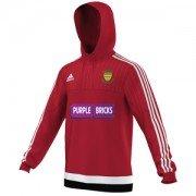 Warton CC Adidas Red Hoody