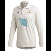 Shipton Under Wychwood CC Adidas Elite Long Sleeve 3rds and 4ths Playing Shirt