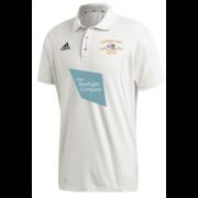 Shipton Under Wychwood CC Adidas Elite Short Sleeve 3rds and 4ths Playing Shirt