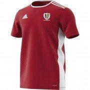 Locks Heath CC Adidas Red Junior Training Jersey