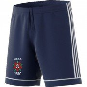 West Tanfield CC Adidas Navy Junior Training Shorts