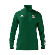 Clipstone and Bilsthorpe CC Adidas Green Zip Training Top