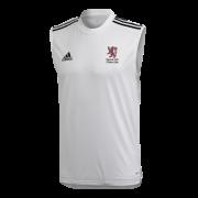Egerton Park CC Adidas White Training Vest