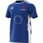 Burbage and Easton Royal CC Adidas Blue Junior Training Jersey