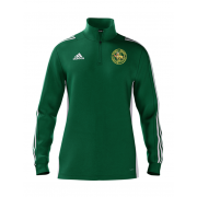 Stoke Green CC Adidas Green Zip Junior Training Top