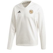 Stoke Green CC Adidas Elite Long Sleeve Sweater