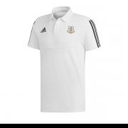 Hensall CC Adidas White Polo