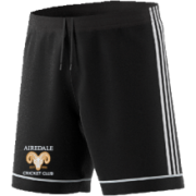 Airedale CC Adidas Black Junior Training Shorts