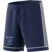 Temple Sowerby CC Adidas Navy Junior Training Shorts