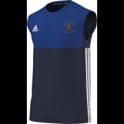Thoresby Colliery CC Adidas Navy Training Vest