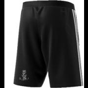 Swansea University CC Adidas Black Training Shorts