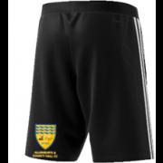 Allenburys & County Hall CC Adidas Black Training Shorts